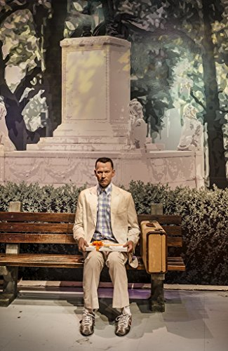 18 x 24 Art Canvas Print of Likeness of Tom Hanks sits at the famous bench from the movie