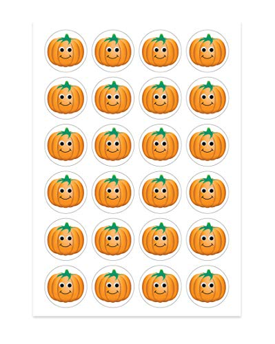 Hygloss Products 1889 Happy Pumpkins Stickers - Great for Fall, Halloween & Thanksgiving Activities - Perfect for Arts, Crafts, DIY Projects & Much More - 3 Sheets ()
