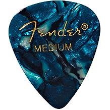 Fender 351 Shape Classic Medium Celluloid Picks, 12 Pack, Ocean Turquoise