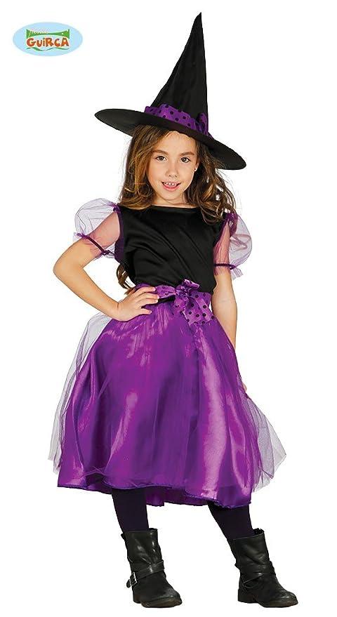 Costume da streghetta strega bambina viola 7-9 anni  Amazon.it ... a8baec5f12d5
