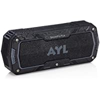 SoundFit Plus Water-Resistant Bluetooth Speaker - Portable Outdoor Wireless Sound System - Features Powerful Bass and Clear Treble - Hands-Free with Built-In Microphone - Dust and Shock Resistant