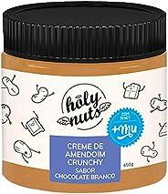 Creme De Amendoim Crunchy Sabor Chocolate Branco Mais Mu 450G, Holy Nuts, 450G