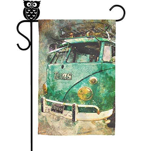 - pinata Classic Stained Bus Garden Flag Weatherproof Polyester Holiday Flag Summer Yard Decor
