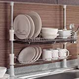 Asia Column Style Sink Rack Two Tier 600 Shelf Liner Dish Holder