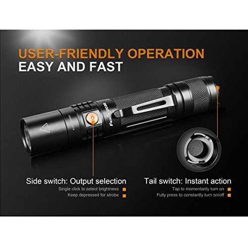 Fenix UC35 V2.0 2018 Upgrade 1000 Lumen Rechargeable Tactical Flashlight 3500mAh Battery and 2X Lumen Tactical CR123A Backup Batteries by Fenix (Image #3)