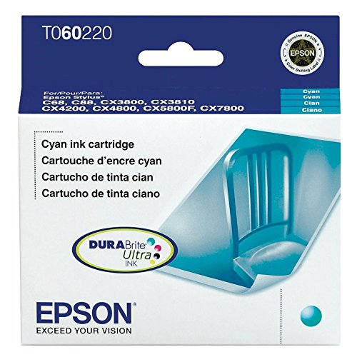Epson T060220 DURABrite Ultra Cyan Standard Capacity Cartridge Ink