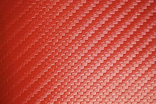 (Carbon Fiber Marine Vinyl Fabric Fire Red Outdoor Automotive Upholstery)