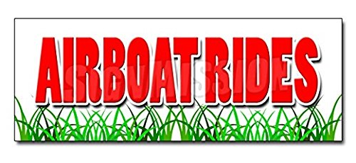 "48"" AIRBOAT RIDES DECAL Sticker Everglades Guided Tours Swamp Buggy Wetlands - Sticker Unambiguous - Auto, Wall, Laptop, Cell Sticker"