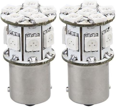 2X Bombilla 13 5050 SMD LED 12V 1156 BAU15S Coche Ámber Lámpara ...