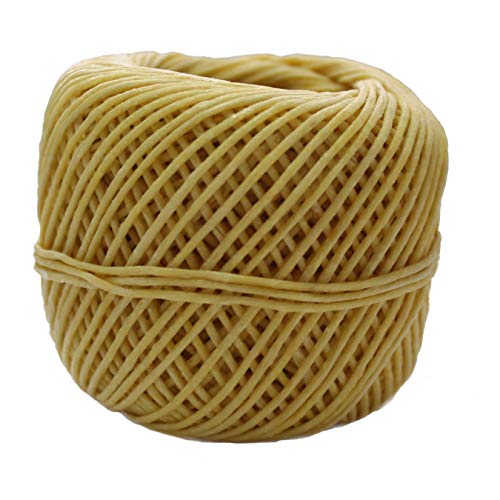 CozYours Beeswax Hemp Wick 210Ft Spool, Organic Hemp Wick Coated in Natural Beeswax, (1.0mm) + 4 eBooks Included!