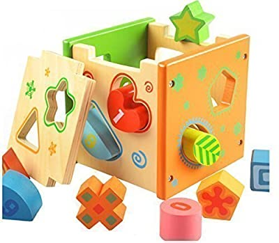 [US CPSC Certificated] Babylian Educational Sorting Cube Toys Bricks of Different Wooden Shapes and Colors for 1-3 Years Old young Childhood Intellectual Education by babylian that we recomend personally.