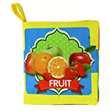 XILALU Baby toy, Soft Cloth Book Baby Intelligence Development Learn Picture Cognize Book (B)