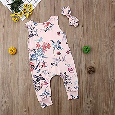 Baby Toddler Newborn Girls Boys Rompers Sets, Beyonds Sleeveless Bodysuit Soft Infant Jumpsuit Outfits Baby Onesies Playsuit Pants Clothes Summer : Baby