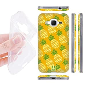 Head Case Designs Pina Pineapple Patterns Soft Gel Back Case Cover for Samsung Galaxy Core Prime G360 by icecream design