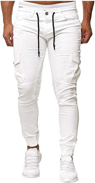 HucodeVan Pantalones Hombre Casual Bermudas Cargo Vintage ...