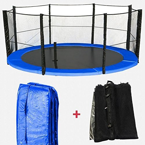We R Sports 6ft, 8ft, 10ft, 12ft, 14ft, 16ft Replacement Trampoline Spring Cover Padding & Safety Net Bundle
