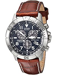 Men's BL5250-02L Titanium Eco-Drive Watch with Leather Band