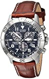 Image of Citizen Men's BL5250-02L Titanium Eco-Drive Watch with Leather Band