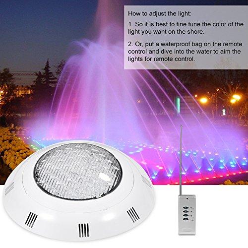 Delaman Luz de Piscina LED RGB 30W 300 LED RGB Luz subacu/ática Multicolor para Piscina con Control Remoto