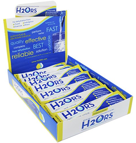 H2ORS Electrolyte Drink Powder: Citrus (24 Pack) by H2ORS