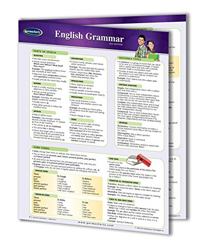 (English Grammar Guide- Language Quick Reference Guide by Permacharts)