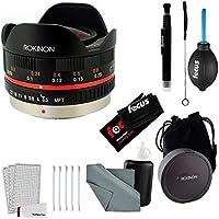 Rokinon 7.5mm f/3.5 Wide Fisheye Lens for Micro 4/3 (Black) & Accessory Kit