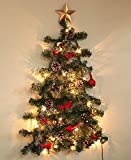 The Lakeside Collection Lighted Christmas Wall Tree - Traditional