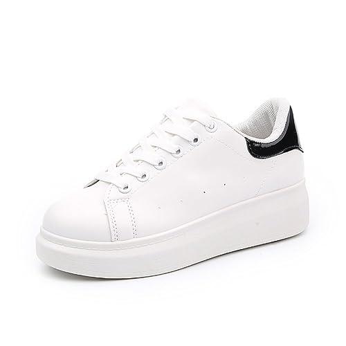 Deportes de verano aumento y zapatos del ocio/Zapatillas blancas gruesos pastel/Calzado de