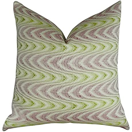 Plutus Brands Plutus Charlesview Beet Handmade Throw Pillow 20 X 26 Beet Citrine Ivory