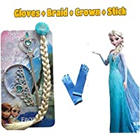 Fancy Steps Accessories Frozen Elsa Anna (Crown Hair Band Frozen Wand)