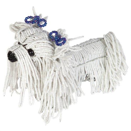 [Grass Roots Creations Maltese Dog Beadworx Sculpture, White] (Maltese Dog Costumes)