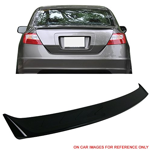 Pre-Painted Trunk Spoiler Fits 2006-2011 Honda Civic 8th   Performance Style #B92P Nighthawk Black Pearl ABS Rear Tail Lip Deck Boot Wing by IKON MOTORSPORTS   2007 2008 2009 2010