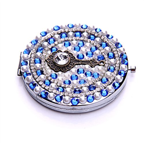 Smile Mirror Cosmetic luxury diamond Color pearls magnifying in makeup by SmileMirror