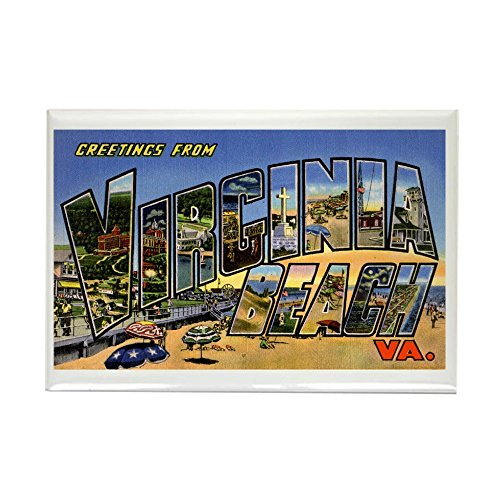 CafePress Virginia Beach Greetings Rectangle Magnet, 2