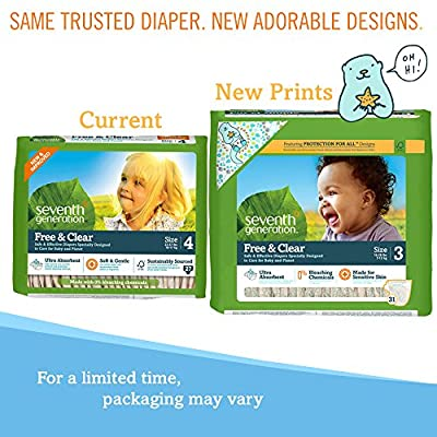 Seventh Generation Baby Diaper Size 5 - 23 Count...