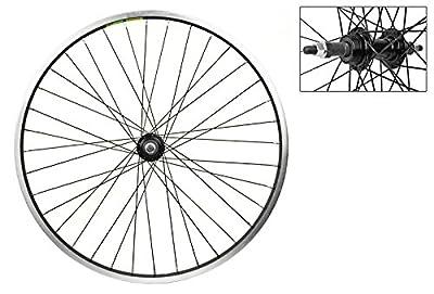 Wheel Master Rear Bicycle Wheel 24 x 1.75 36H, Alloy, Bolt On, Black