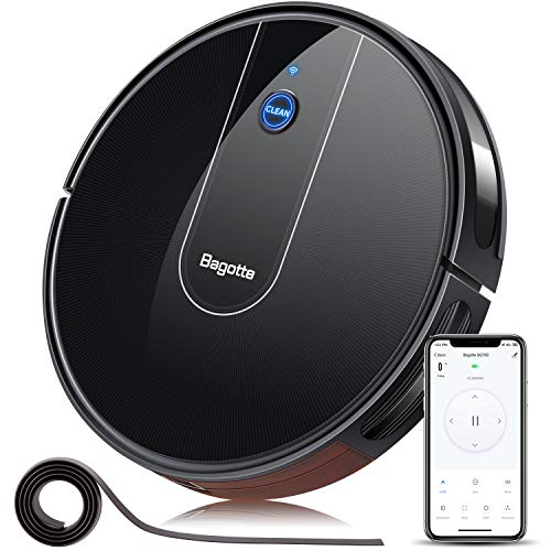 Robot Vacuum – 1600PA Wi-Fi Connected APP Schedule Cleaning Robotic Vacuum Cleaner , Striped Panel, 2.7″ Super-Slim, Boundary Strips Included, Ideal for Pet Hair, Hard Floors, Carpets