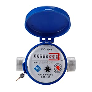 Household Water Flow Meters 360 Adjustable Water Timer for Garden Hose Mechanical Rotary Pointer Counter Water Meter