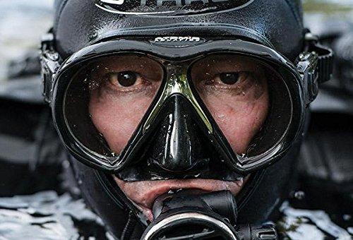 Medium Fit Atomic Aquatics Subframe Mask Clear//Aqua