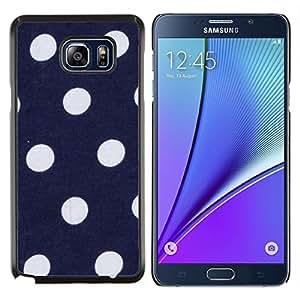 Stuss Case / Funda Carcasa protectora - Spots Lunares Azul marino Púrpura Blanco - Samsung Galaxy Note 5