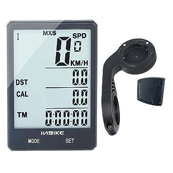 Trendyest Velocímetro Digital Coche mph Cx-9 Ordenador de Bicicleta 2.8In Luz de Fondo Resistente Al Agua Velocímetro Cronómetro (D): Amazon.es: Deportes y ...