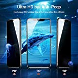 TORRAS Black Diamond iPhone 11 Pro Screen Protector Privacy iPhone X Screen Protector iPhone Xs Screen Protector [Privacy Protection] [Military Grade Shatterproof] Anti-Scratch Tempered Glass