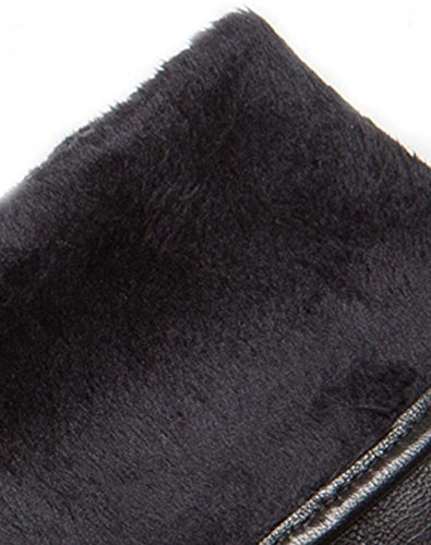 "YISEVEN Women's Rabbit Fur Lined Touchscreen Leather Gloves with Fur Cuff, Lambskin and work for cell phone, iPad, and more 7.5""/L"
