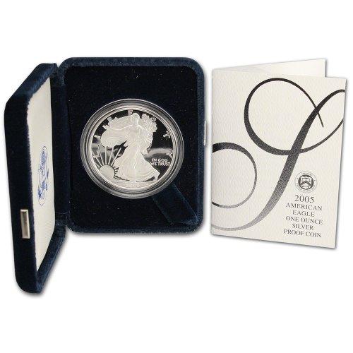 2005 W American Silver Eagle Proof $1 OGP U.S. Mint ()