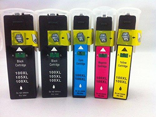 Inkjet Cartridge Magenta Model (TSPSaver Lexmark Replacement Model 100xl Inkjet Cartridges Bundle ( 2 Black 1 Cyan 1 Magenta 1 Yellow ))