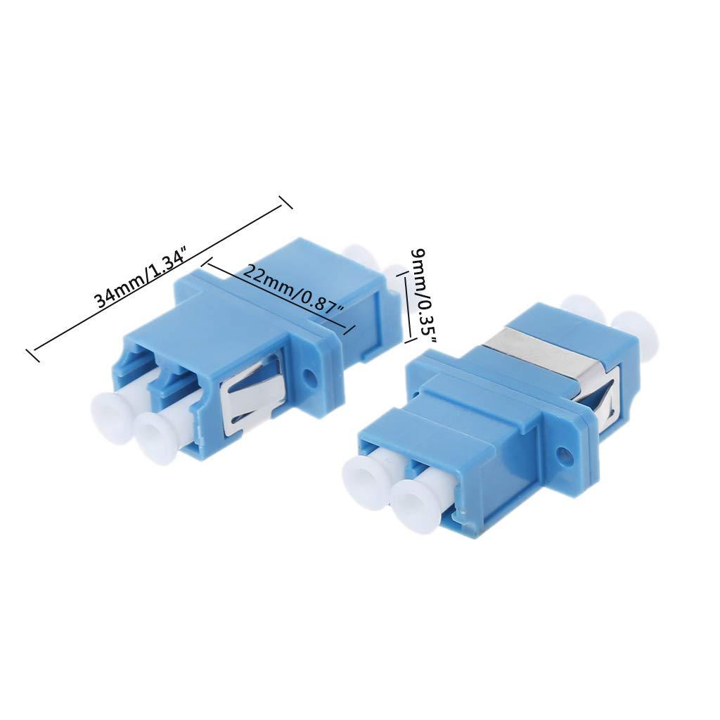 100 pz Blue LC//UPC-SM Single Mode Adattatore per Flangia Duplex Duplex modalit/à Singola YoungerY