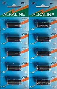 Eunicell LR1 1.5v - Pilas alcalinas (MN9100, AM5, tamaño N, 10 unidades)