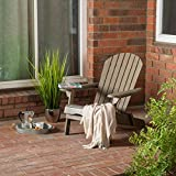 Great Deal Furniture Alistair Home Milan Grey Outdoor Folding Wood Adirondack Chair (Set of 2)