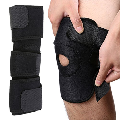 LANLANYISHU 1Pc Elastic Knee Brace Adjustable Knee Straps Support Safety Guard For Sports Running by LANLANYISHU