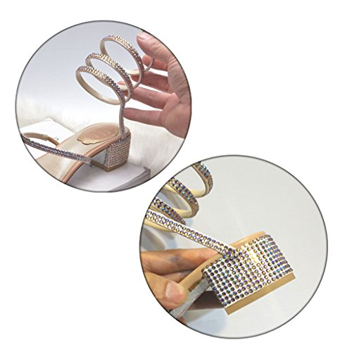 Abierta Sinuoso Imitación Verano Diamantes Coreanos Sandalias Zapatos Punta De Primavera Y Sandals Tacones Beige Ásperos Hq7fOn